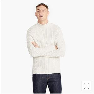 Jcrew 1988 cable knit roll neck sweater